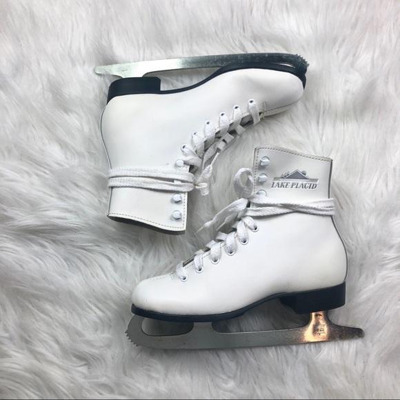 8bdadf02af0cd [Lake Placid] White Leather Girls Ice Skates